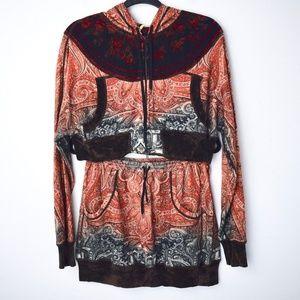 Vintage 90s Jean Paul Gaultier Skirt/Hoodie Set